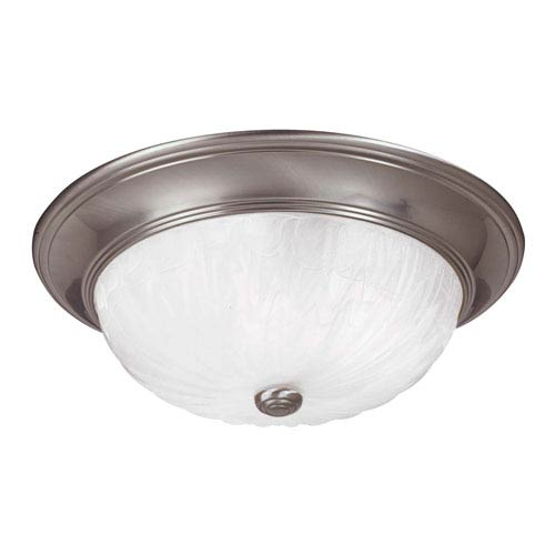 Savoy House Satin Nickel Large Flush Ceiling Light