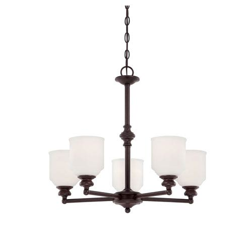 Savoy House Melrose Bronze Five-Light Chandelier