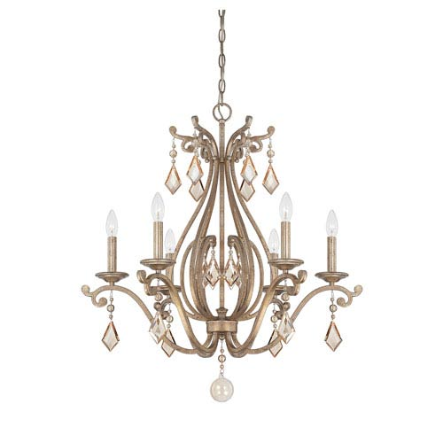 Savoy House Rothchild Oxidized Silver Six Light Chandelier