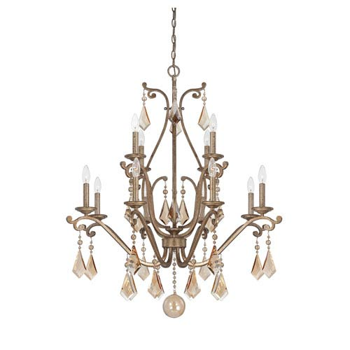 Rothchild Oxidized Silver 12 Light Chandelier