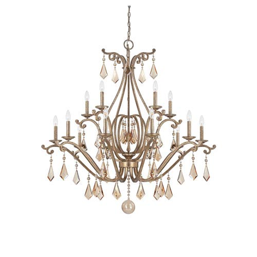 Savoy House Rothchild Oxidized Silver 15 Light Chandelier