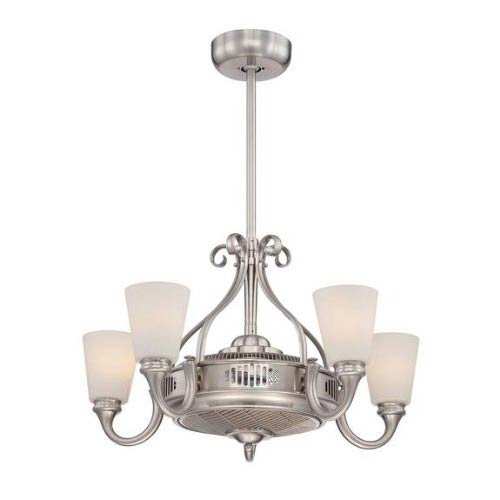 Savoy House Borea Satin Nickel and Pewter Fluorescent Five Light Ceiling Fan