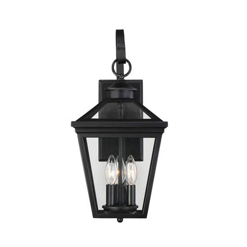 Transitional outdoor lighting free shipping bellacor ellijay black three light nine inch outdoor wall sconce aloadofball Choice Image