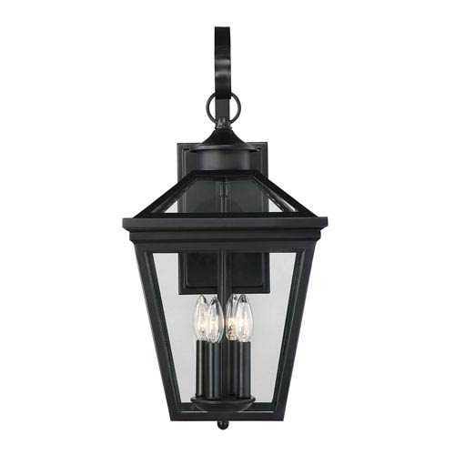 Ellijay Black Four-Light Outdoor Wall Sconce