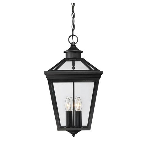Ellijay Black Four Light Outdoor Pendant