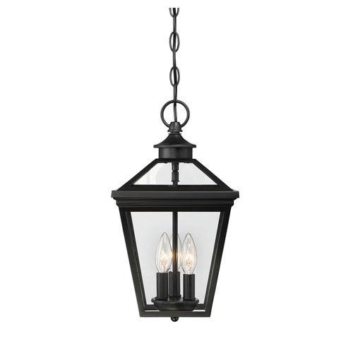 Ellijay Black Three-Light Outdoor Pendant
