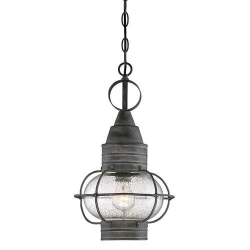 Savoy House Enfie Oxidized Black 10-Inch One-Light Outdoor Hanging Lantern
