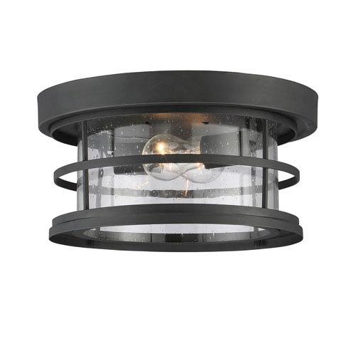 Barrett Black Two-Light Outdoor Flush Mount