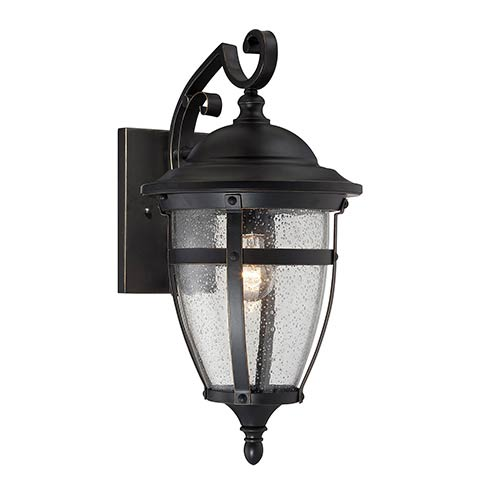 Savoy House Dillon Bronze One-Light 7-Inch Wide Outdoor Wall Lantern