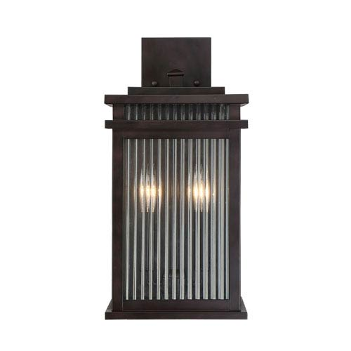 Savoy House Radford English Bronze Two-Light Outdoor Wall Sconce