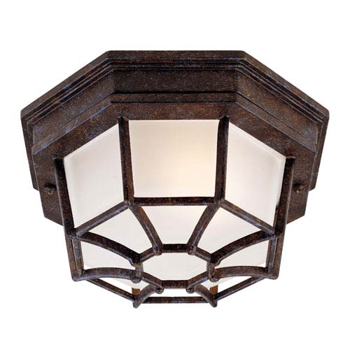 Rustic Bronze Outdoor Ceiling Light