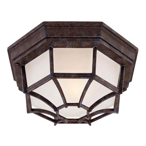 Rustic Bronze Large Outdoor Ceiling Light