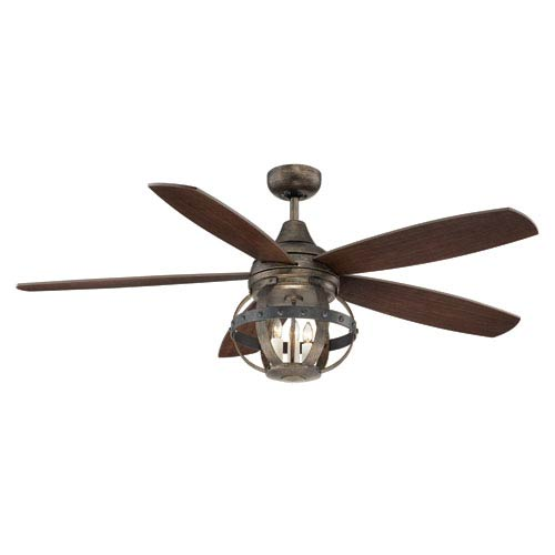 Savoy House Alsace Wood Three Light Ceiling Fan