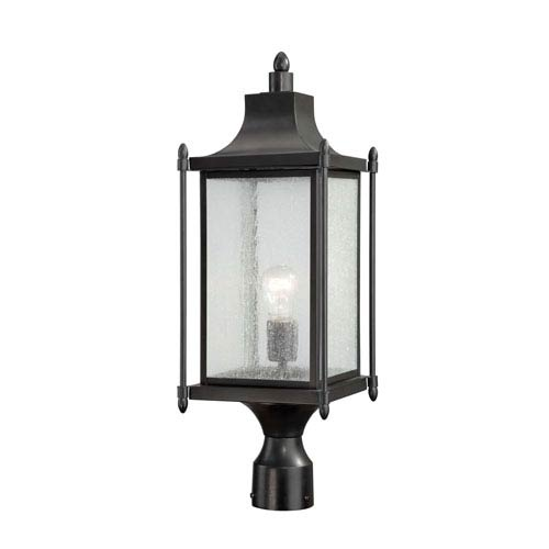 Dunnmore Black Post Mount Lantern