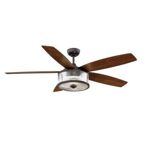 Phoebe English Bronze 56-Inch One-Light LED Ceiling Fan