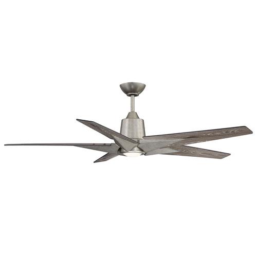Buckenham Aged Pewter One-Light Five-Blade Ceiling Fan
