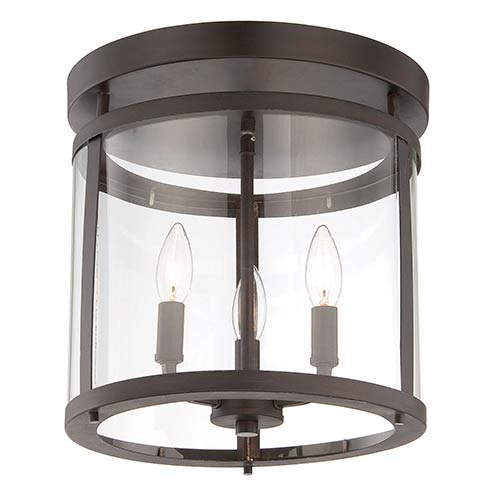 Savoy House Penrose Bronze Three-Light Semi-Flush
