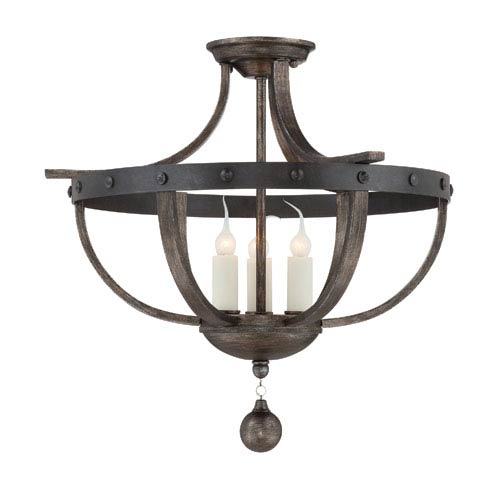 Alsace Three Light Semi Flush