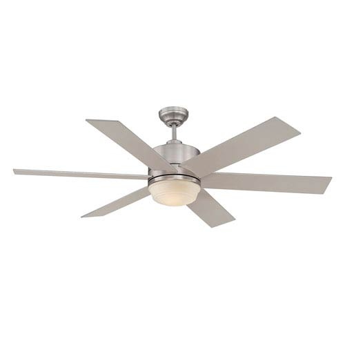 Velocity Brushed Nickel and Pewter One Light Ceiling Fan