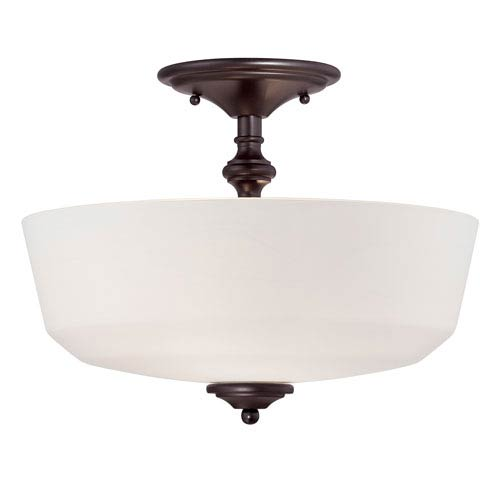 Melrose Bronze Two-Light Semi-Flush