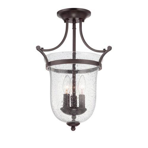 Savoy House Trudy English Bronze Three Light Semi-Flush