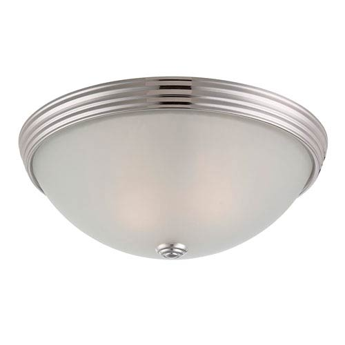 Savoy House Savoy House 13-Inch English Polished Nickel Two Light Flush Mount