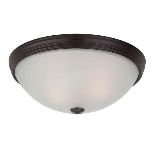 Savoy House Savoy House 13-Inch English Bronze 4.5-Inch Two Light Flush Mount