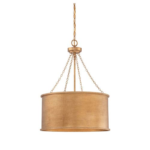 Rochester Gold Patina Four-Light Pendant