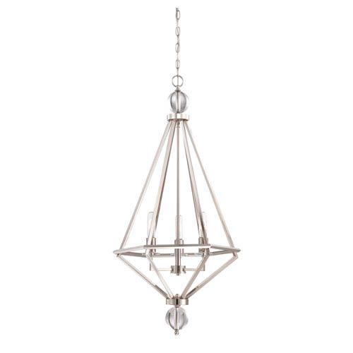 Tekoa Polished Nickel Three-Light Pendant