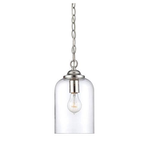 Bally Polished Nickel 6.5-Inch One-Light Mini Pendant
