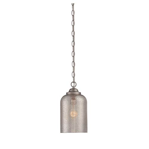 Savoy House Bally Satin Nickel 6.5-Inch One-Light Mini Pendant