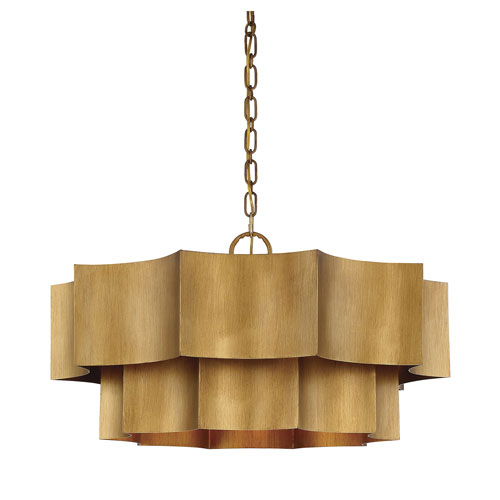 Shelby Gold Patina Six-Light Pendant