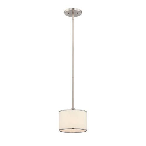 Savoy House Grove Nickel and Pewter One-Light Mini Pendant