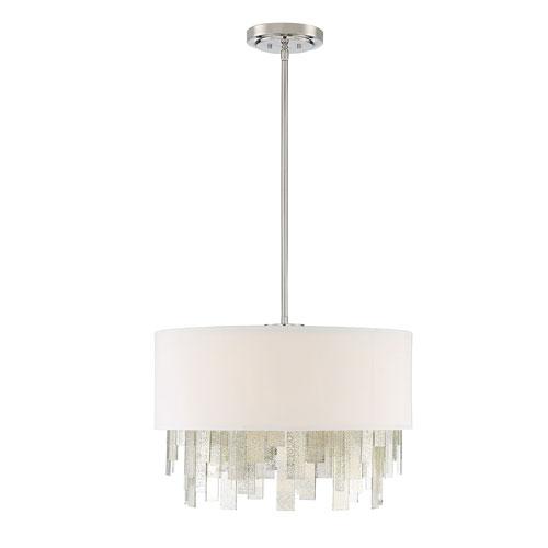 Savoy House Fairmont Polished Nickel Three-Light Pendant