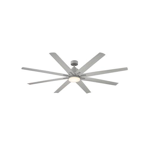 Bluff Grey Wood LED 72-Inch Outdoor Ceiling Fan