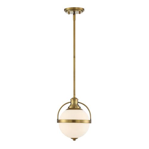 Westbourne Warm Brass 9-Inch One-Light Mini Pendant