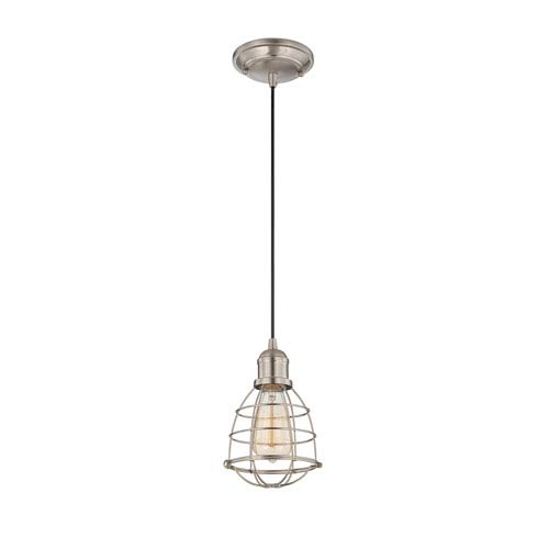 Savoy House Vintage Satin Nickel One Light Mini Pendant