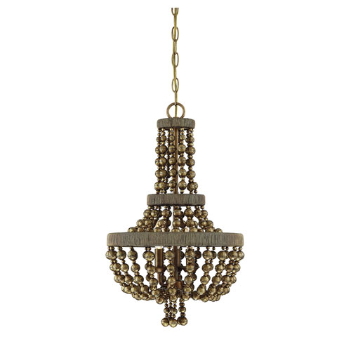 Cranford Vintage Brass Three-Light Pendant