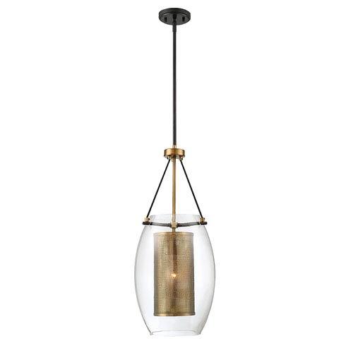 Dunba Warm Brass 12-Inch One-Light Pendant