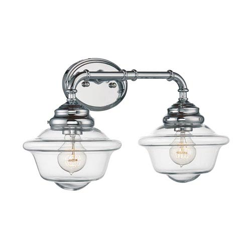 Savoy House Fairfield Chrome Inch Two Light Bath Fixture - Savoy bathroom light fixtures