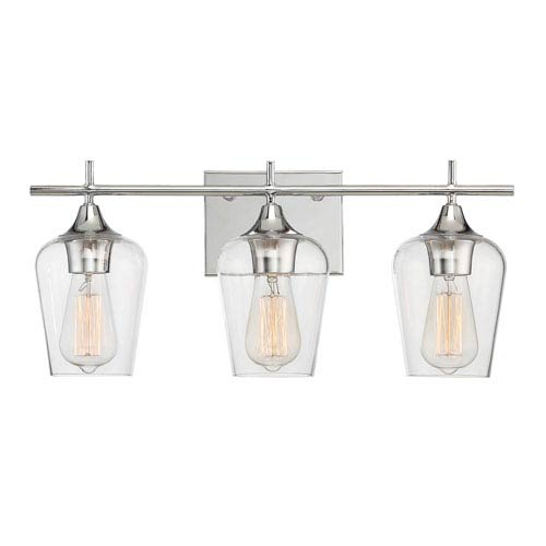 Savoy House Octave Polished Chrome Three-Light Bath