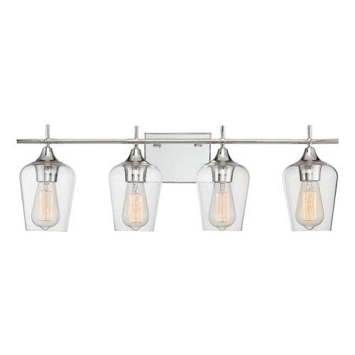 Octave Polished Chrome Four-Light Bath