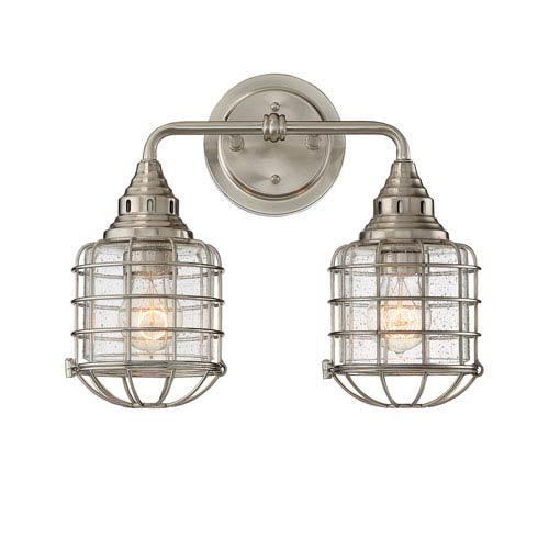 Connell Satin Nickel Two-Light Bath
