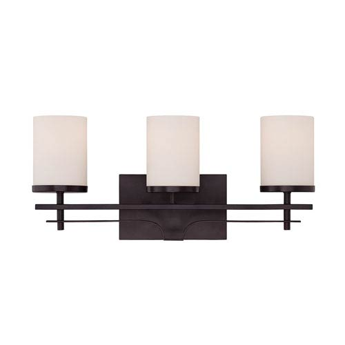 Colton Bronze Three-Light Bath Bar