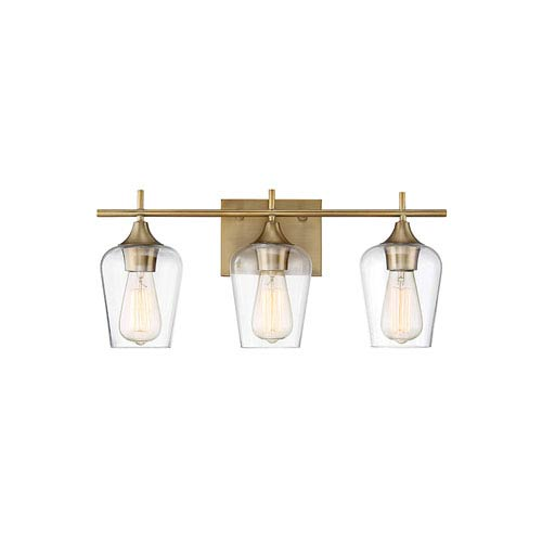 Octav Warm Brass 21-Inch Three-Light Bath Vanity