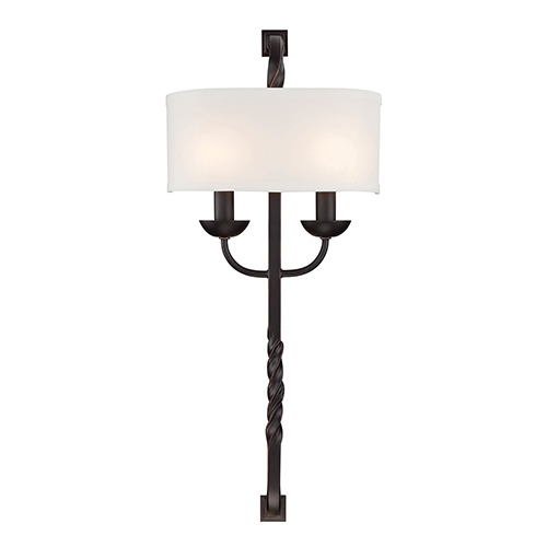 Oberon Black Two-Light Wall Sconce