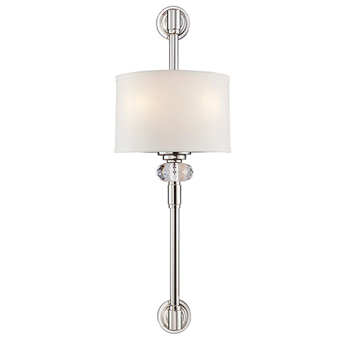 Marlow Polished Nickel Two-Light Wall Sconce