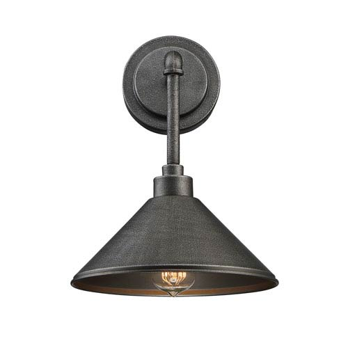 Dansk Galvanized Metal One-Light Sconce