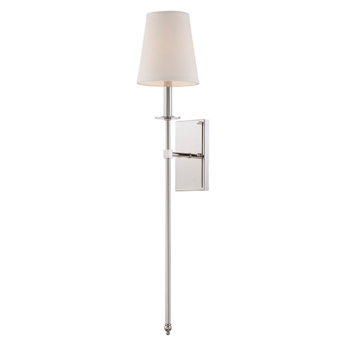 Monroe Polished Nickel One Light 6 5 Inch Wide Wall Sconce