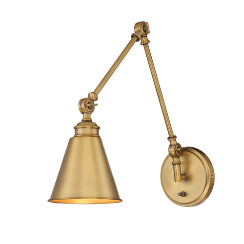 Morland Warm Brass One-Light Sconce